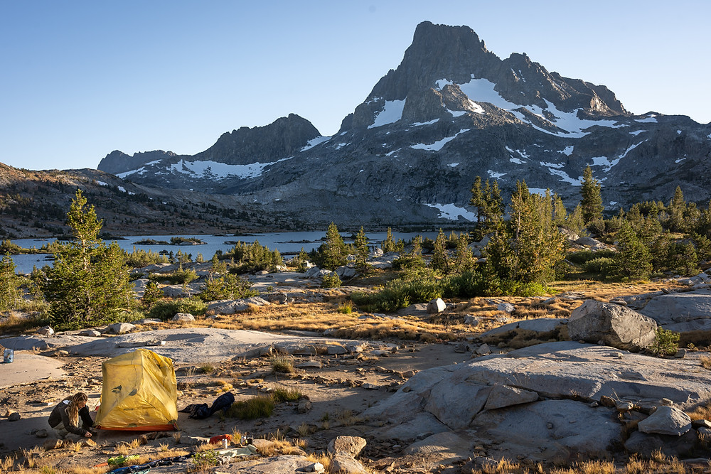 camping in backcountry