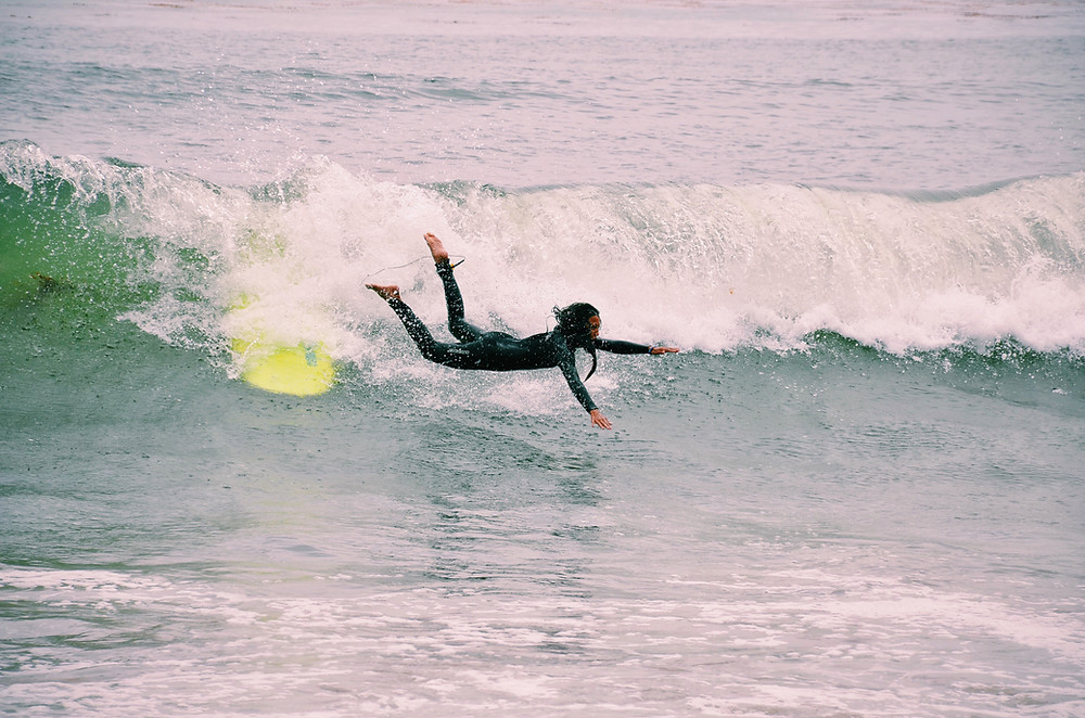 wetsuit and flying