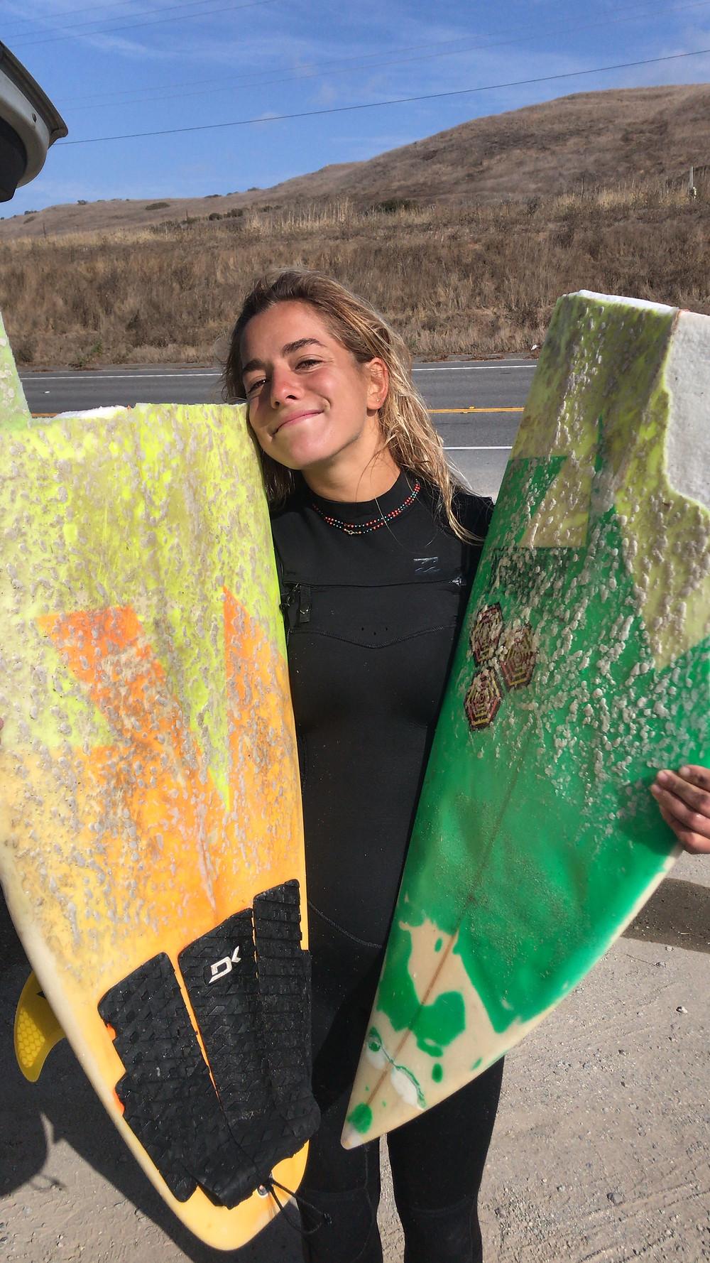 Broken Surf Board