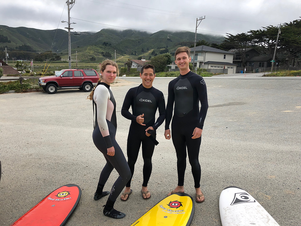 surfing with friends