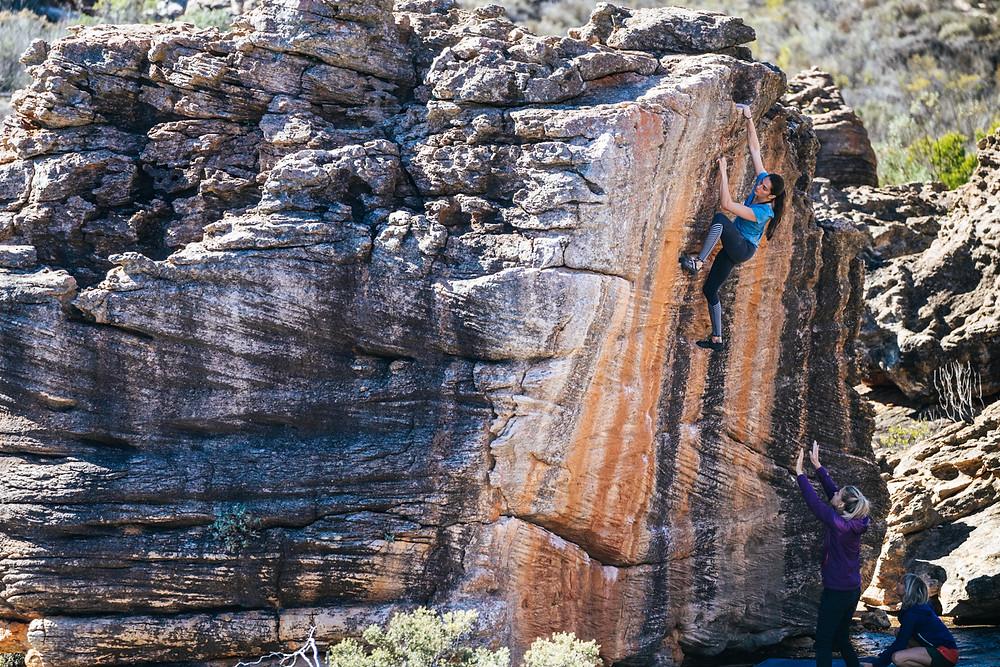 Kyra Condie bouldering