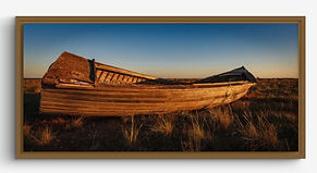 Brown Framed Canvas Print