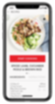 Zega Cookware - App - Ingredient Screen