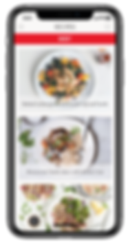Zega Cookware - App - Recipe Screen