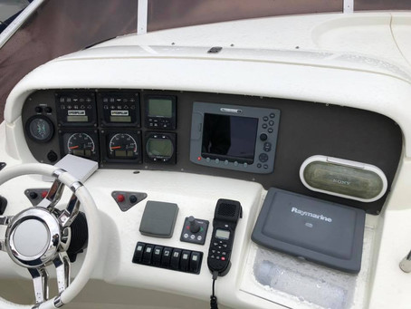 Re engineered dash panels in carbon fibre- Azimut 55