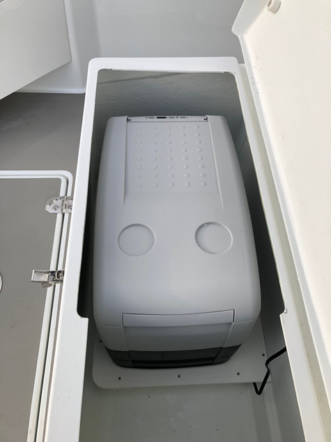Dometic CF portable fridge freezer installation giving additional cooling space