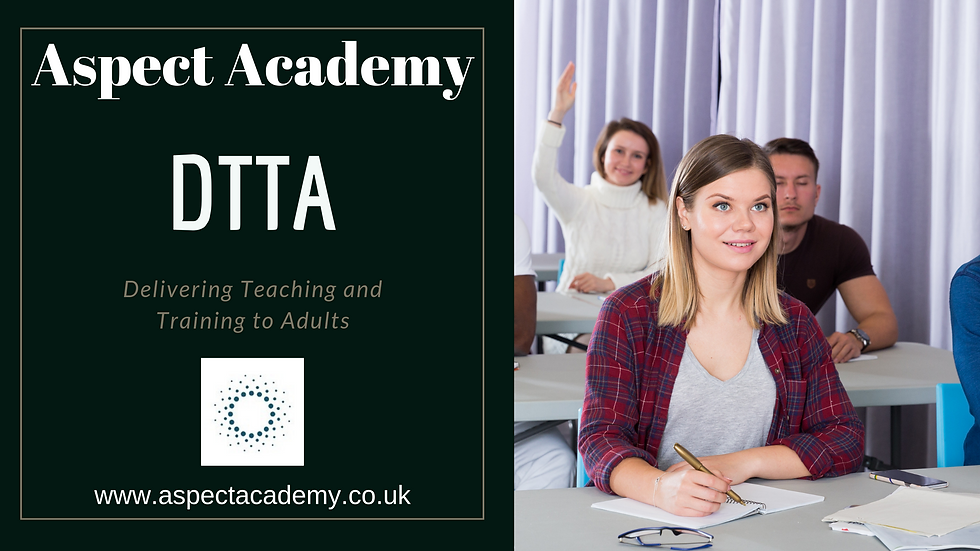 Delivering Teaching & Training to Adults DTTA