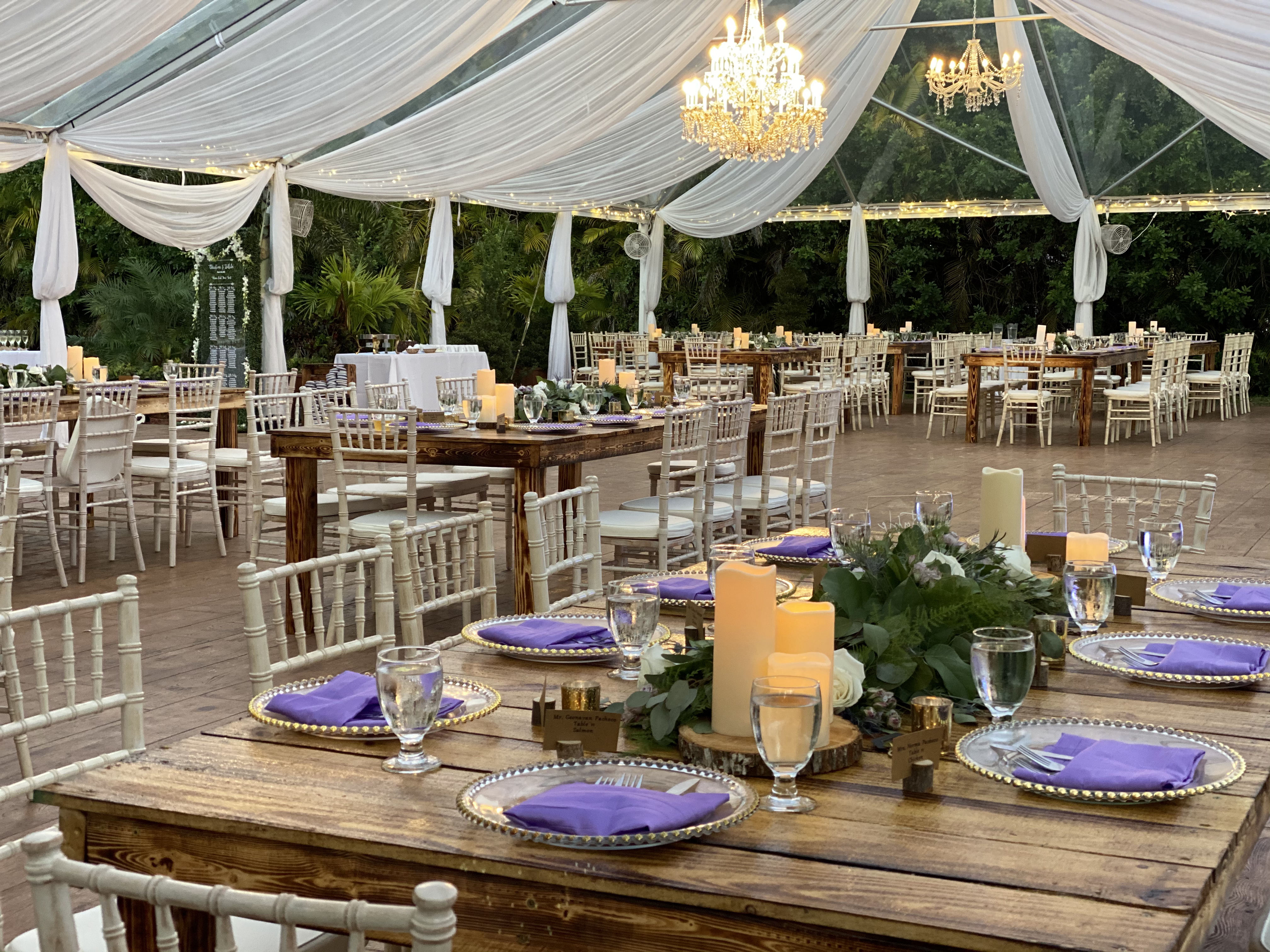 Beautiful Reception under tent