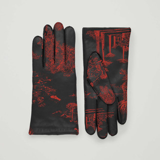 Toile de Jouy & The Desert on gloves