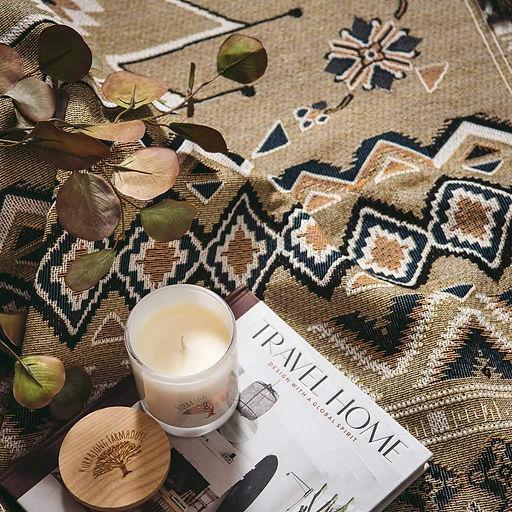 Garance Tresarrieu - projet freelance design textile rug close up - boho style - woven pattern
