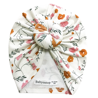 Garance Tresarrieu - design textile - baby flower pattern - turban enfant motif textile