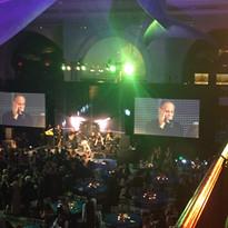 John on the big screen!