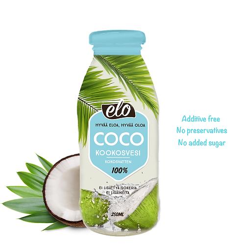 ELO COCO  Kookosvesi 250ml x 12