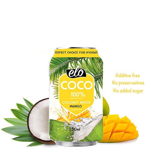 ELO COCO Kookosvesi-Mango 330ml x 12