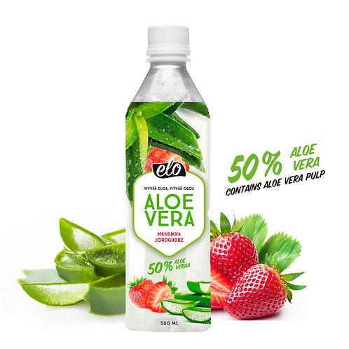 ELO Aloe Vera Mansikka 500ml x12