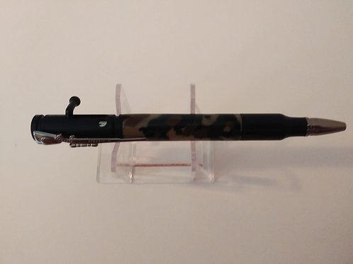 Bolt Action Bullet Pen,Gun Metal, Black Enamel, Acrylic Camo