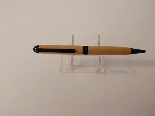 Slim Line pen made with yellowheart wood