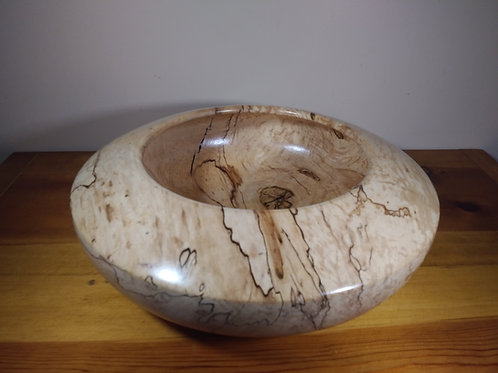 "Bowl Spaulted Maple  Large 15"" X 15 1/2"""