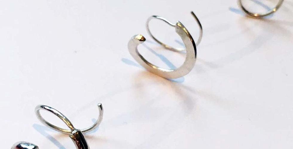 Ohrringe Silber loop Variante 1,2,3