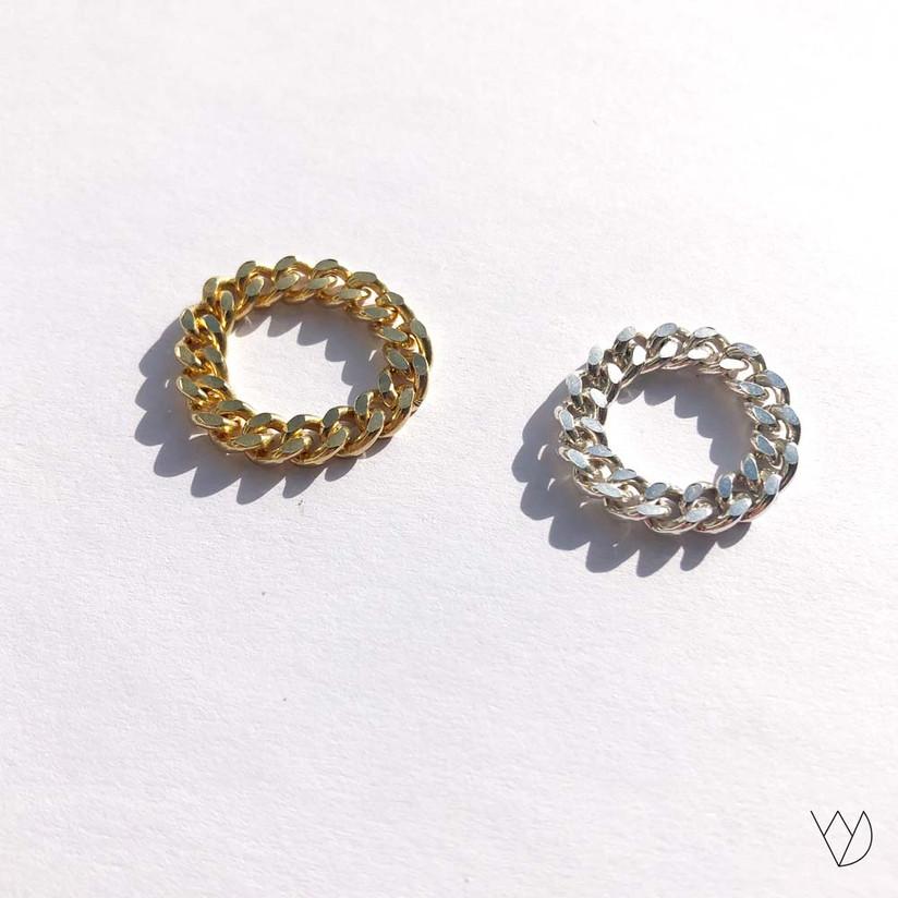 Ring Tank gold silber