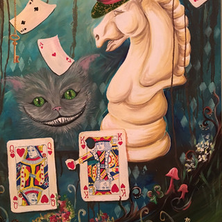 Cards - Right Third of Wonderland Tiptych