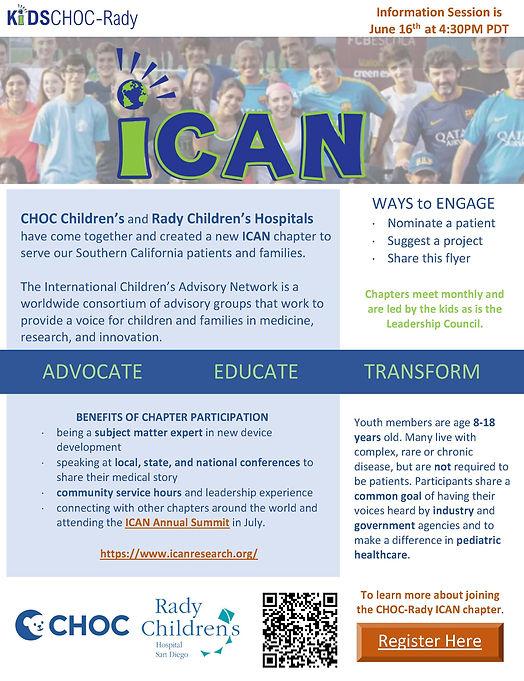 CHOC-Rady ICAN info session flyer (QR).j
