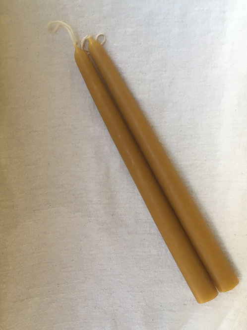 100% Beeswax Taper Candles set of 2