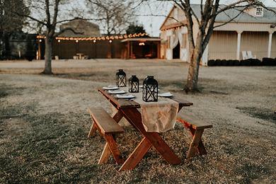 Garden Dinner Table