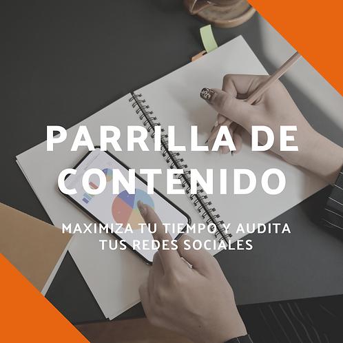 Plantilla- Parrilla de contenidos redes sociales