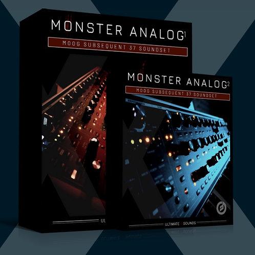 Monster Analog BUNDLE PACK Vol.1 + Vol.2 / MOOG Subsequent 37 SoundSet