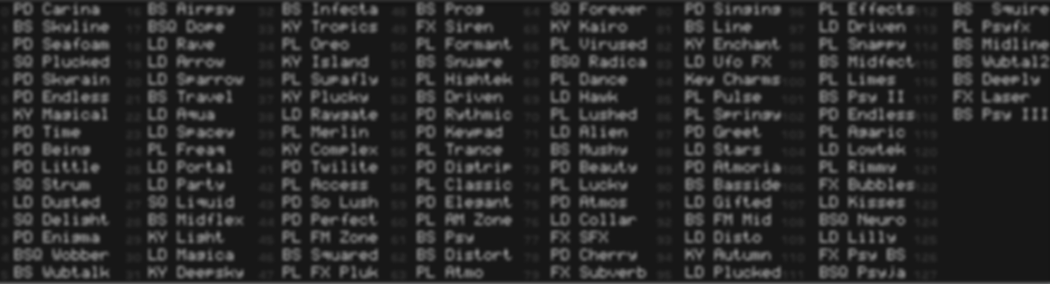 patch list