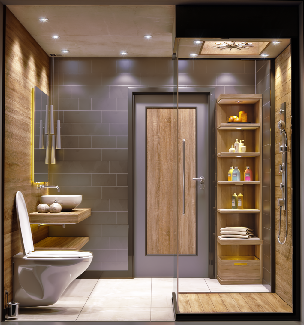 Restroom & Glass Shower
