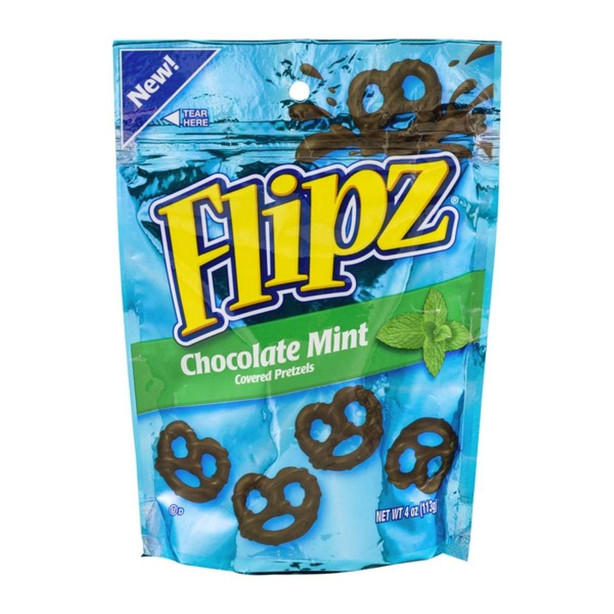 Chocolate Mint Pretzels