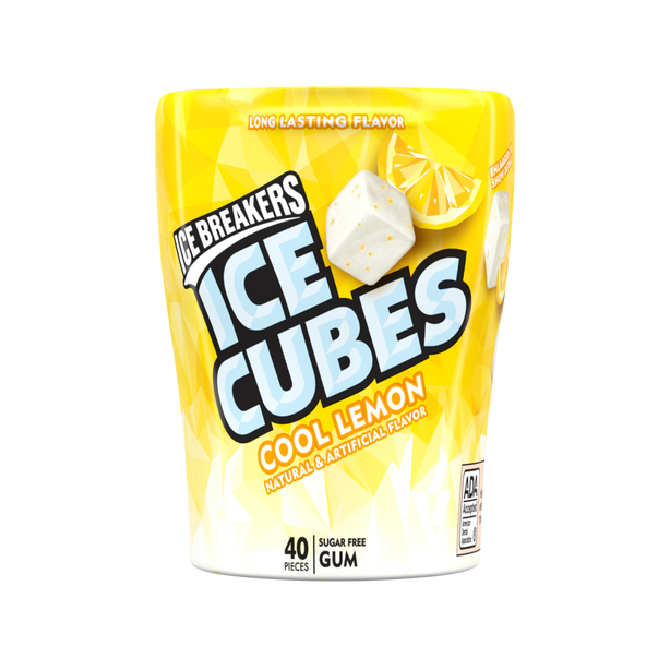 Ice Cubes Gum Cool Lemon