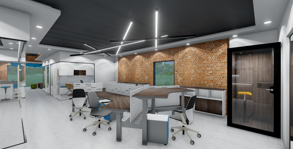 Open Plan Work Space