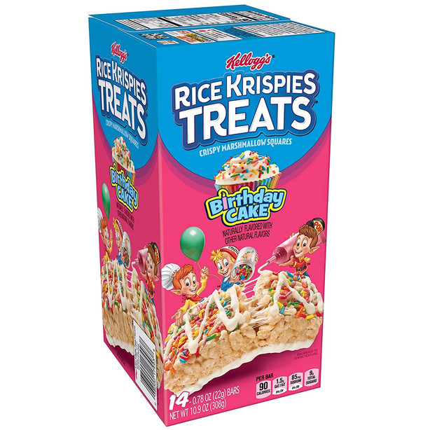 Rice Krispies Treats Birthday Cake