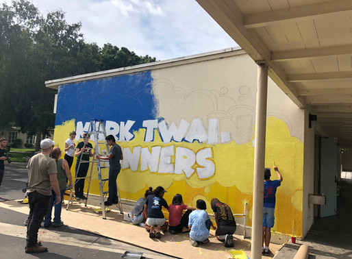 DIY Mural Painting at Mark Twain