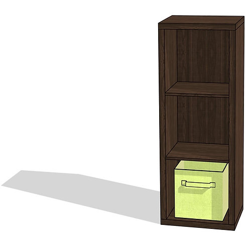 Three Cube Organizer with Bins Revit Furniture Family