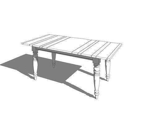 Dining Table Large Revit Furniture Family