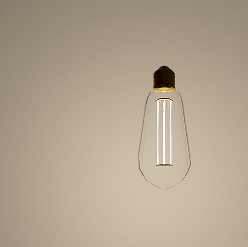 LED Vintage Light Bulb Revit Light Fixture Family