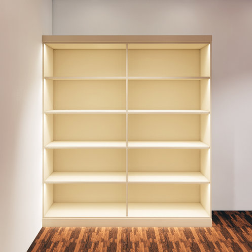 Retail Display with Shelves