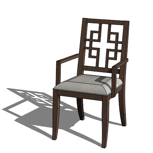 Ethan Allen® Grayson Dining Chair Revit Furniture Family