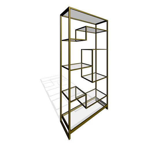 Ethan Allen® Clarksburg Open Modular Display Bookcase Revit Family