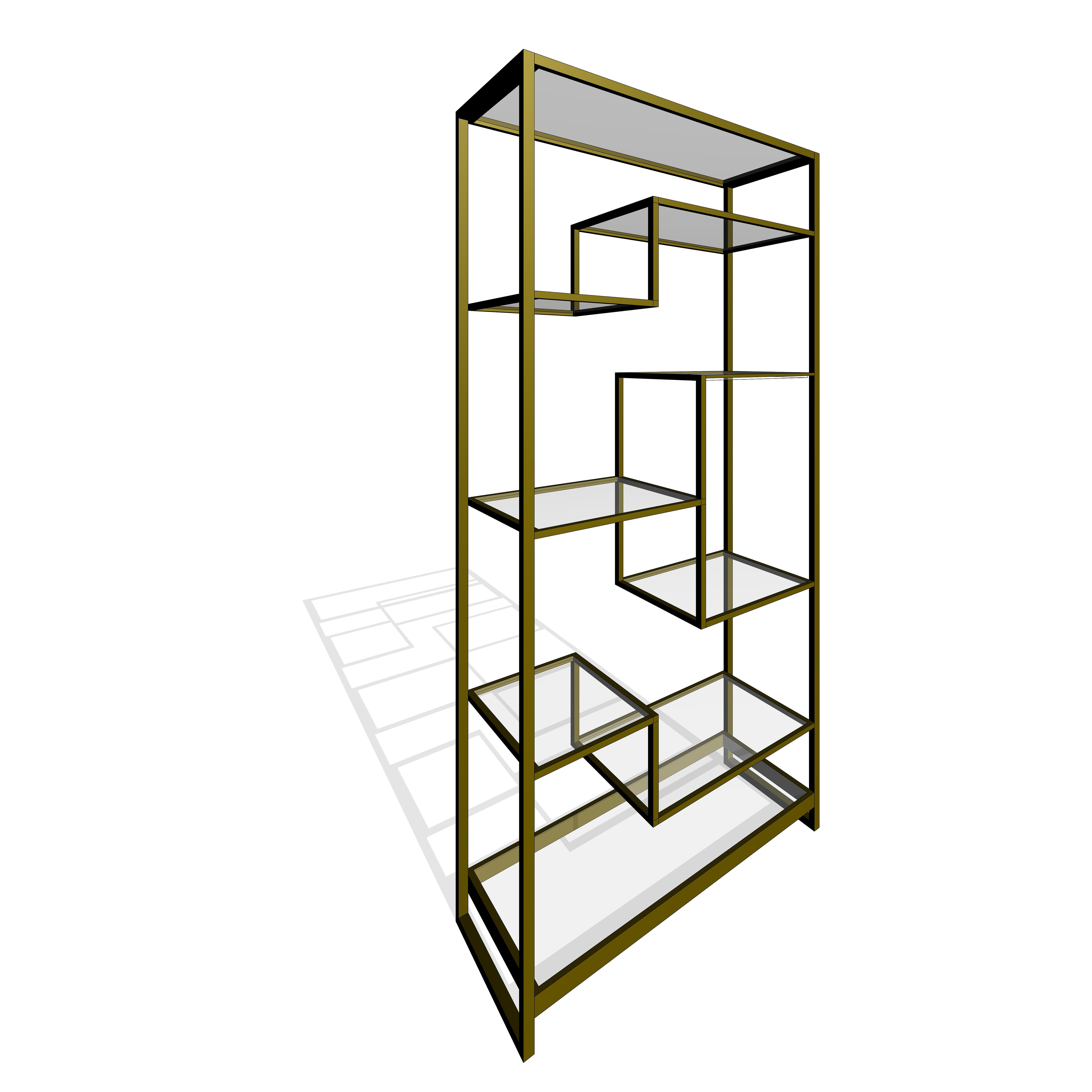 Revit Family Of The Ethan Allen Clarksburg Open Modular Display Bookcase