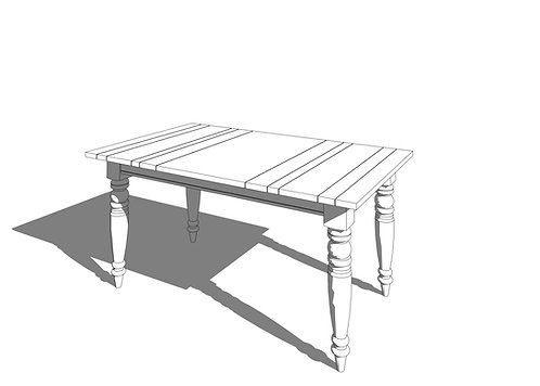 Ethan Allen® Miller Dining Table Small Revit Furniture Family