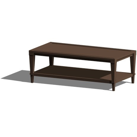 Rectangular Coffee Table Revit Furniture Family