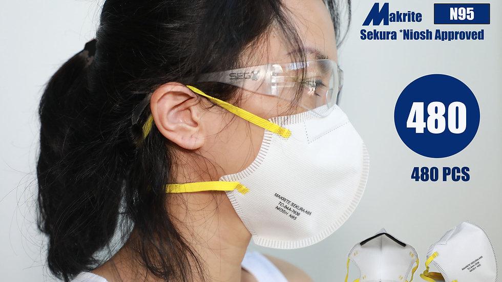 [Pack of 480]  Makrite Sekura N95 Face Mask