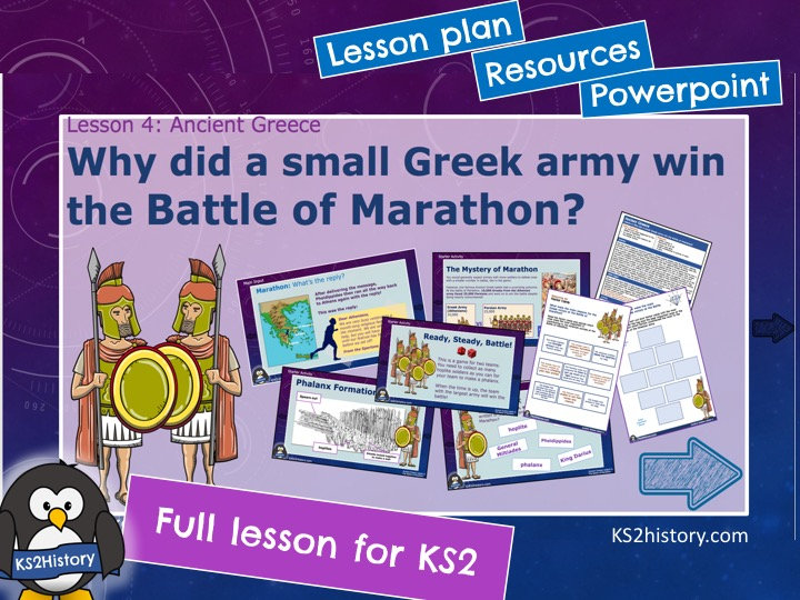 Why did a small Greek army win the Battle of Marathon?