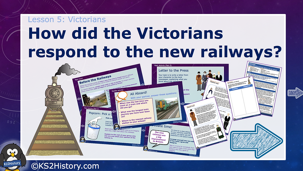 5. How did the Victorians respond to the new railways?