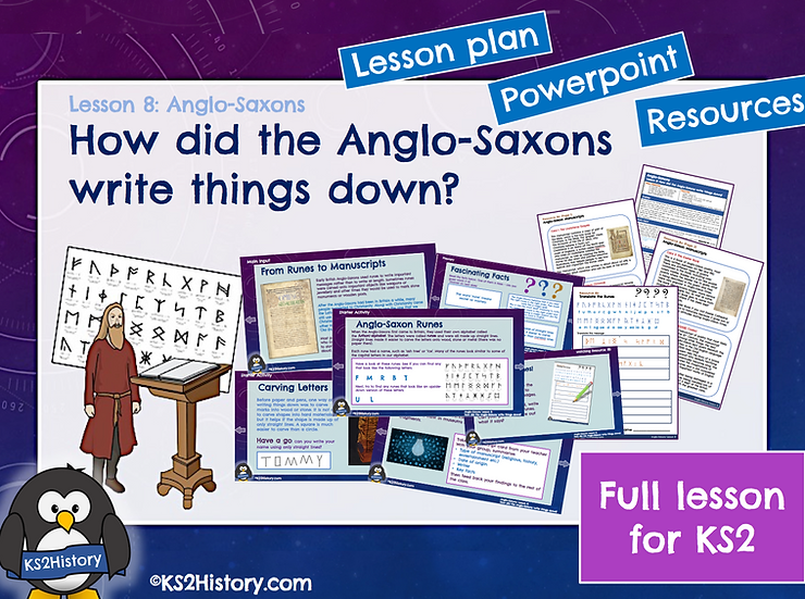 8. How did the Anglo-Saxons write things down?